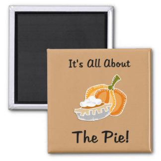 Pumpkin Pie Fridge Magnets