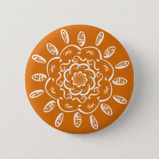 Pumpkin Pie Mandala 2 Inch Round Button