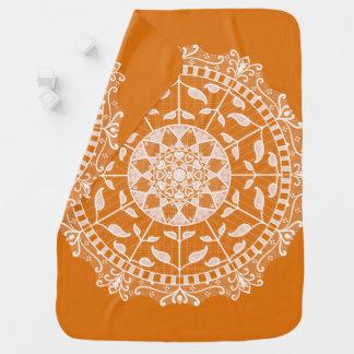 Pumpkin Pie Mandala Baby Blanket
