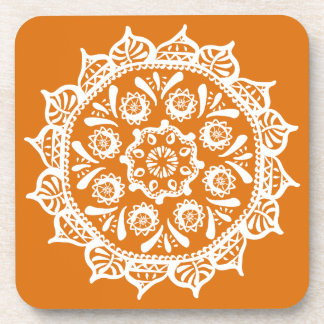 Pumpkin Pie Mandala Beverage Coasters