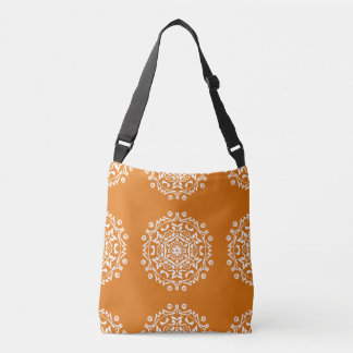 Pumpkin Pie Mandala Crossbody Bag