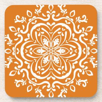 Pumpkin Pie Mandala Drink Coasters
