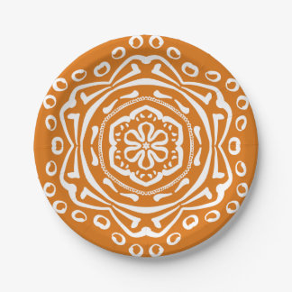 Pumpkin Pie Mandala Paper Plate