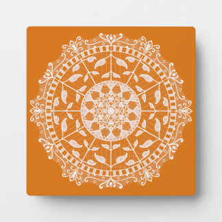 Pumpkin Pie Mandala Plaque