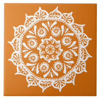 Pumpkin Pie Mandala Tile