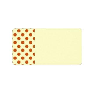 Pumpkin Pie Pattern. Label