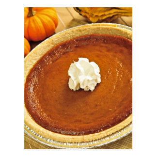 Pumpkin pie postcard
