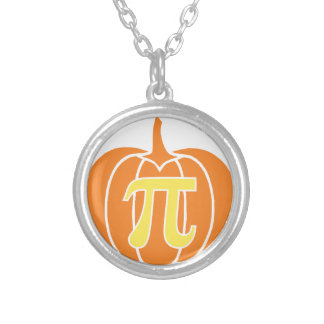 Pumpkin Pie Silver Plated Necklace