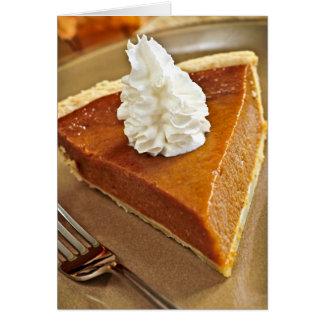 Pumpkin pie slice card