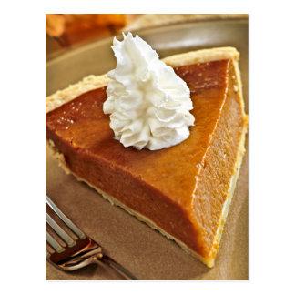 Pumpkin pie slice postcard