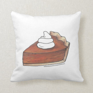 Pumpkin Pie Slice Thanksgiving Food Dessert Pillow