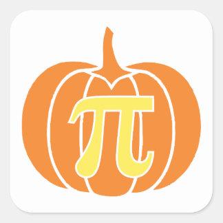 Pumpkin Pie Square Sticker