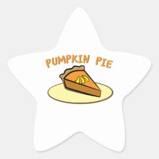 Pumpkin Pie Star Stickers