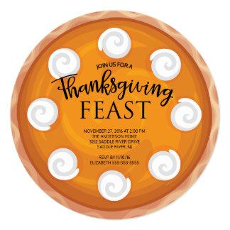 Pumpkin Pie Thanksgiving Dinner Feast Card