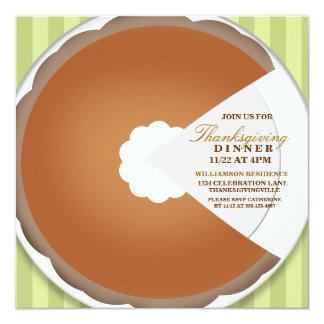 Pumpkin Pie Thanksgiving Dinner Invitation