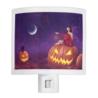 Pumpkin Pixie Halloween Fairy Night Light