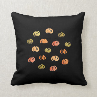 Pumpkin Polyester Throw Pillow 16'' x 16''