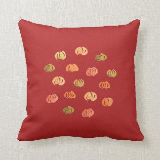Pumpkin Polyester Throw Pillow 16'' x 16''