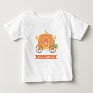 Pumpkin Princess Carriage Cinderella Fairytale Baby T-Shirt