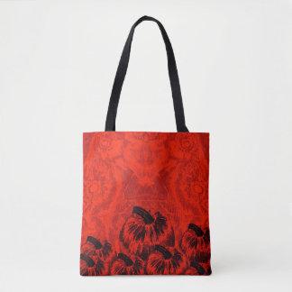 Pumpkin Print Halloween Orange Tote Bag