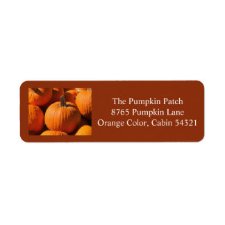 Pumpkin Return Address labels 1 2016
