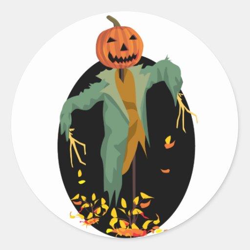 Pumpkin Scarecrow Stickers