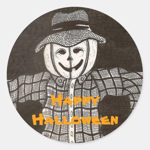 Pumpkin Scarecrow Sticker