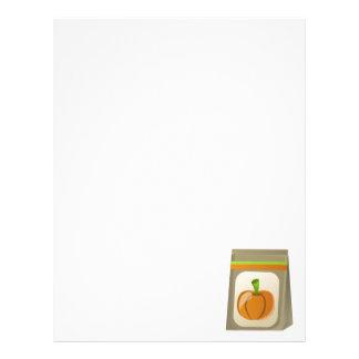 Pumpkin seeds letterhead template