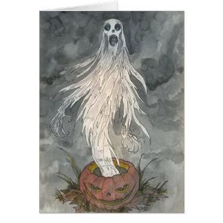 """""""Pumpkin Shriek"""" Blank Card"""