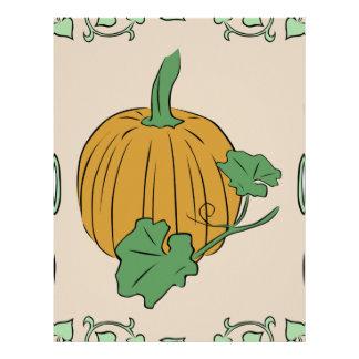 Pumpkin Sign Letterhead