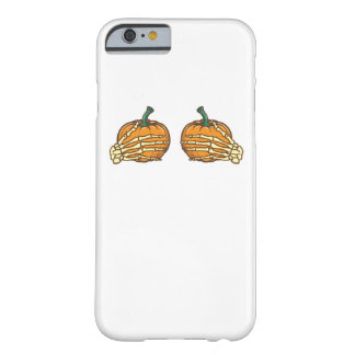 Pumpkin Skeleton Hands Funny Halloween Barely There iPhone 6 Case