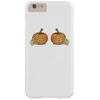 Pumpkin Skeleton Hands Funny Halloween Barely There iPhone 6 Plus Case