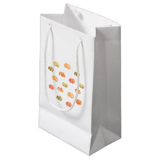 Pumpkin Small Glossy Gift Bag