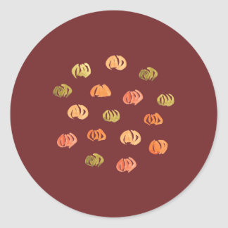 Pumpkin Small Glossy Round Sticker