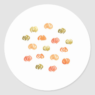 Pumpkin Small Glossy Round Sticker