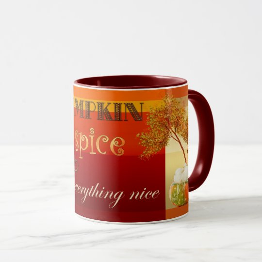 Pumpkin Spice and Everything Nice Fall Coffee Mug
