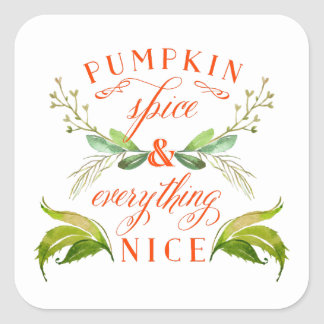 Pumpkin Spice and Everything Nice Fall Stickers