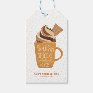 Pumpkin Spice and Everything Nice Latte Gift Tags
