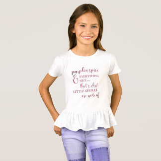 Pumpkin Spice And Everything Nice Ruffle T-Shirt