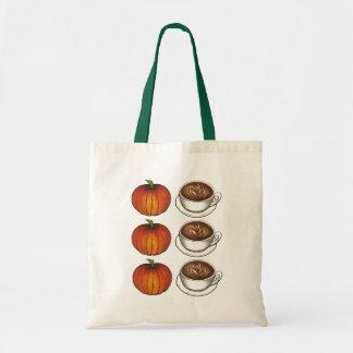 Pumpkin Spice Coffee Latte Autumn Fall Tote Bag