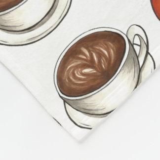 Pumpkin Spice Coffee Latte Orange Pumpkins Blanket