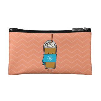 Pumpkin Spice Cold Latte Cosmetics Bags