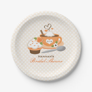 Pumpkin Spice Fall Themed Bridal Shower Paper Plate