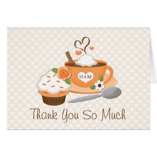 Pumpkin Spice Fall Wedding Shower Thank You Note Card
