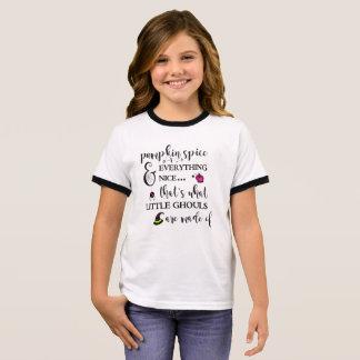 Pumpkin Spice Girl's Ringer T-Shirt