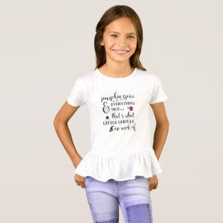Pumpkin Spice Girls' Ruffle T-Shirt