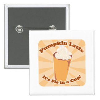 Pumpkin Spice Latte Fun 2 Inch Round Button
