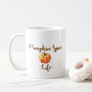 Pumpkin Spice Life watercolor mug