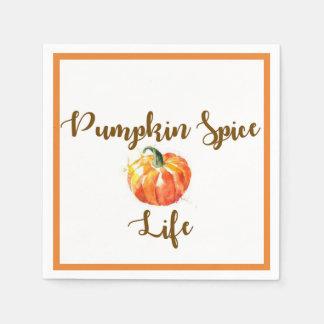 Pumpkin Spice Life watercolor napkins Paper Napkin