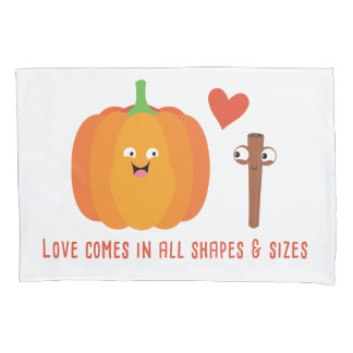 Pumpkin Spice Love Cute Fall Pillow Case